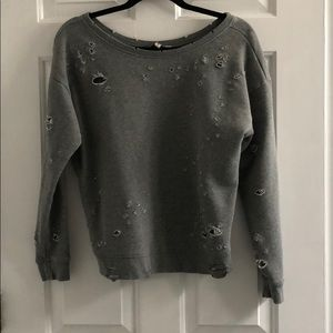 Express Destroyed Sweatshirt